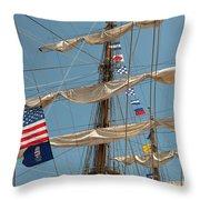 Mast Flags Throw Pillow
