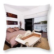 Master Bedroom With A View Throw Pillow