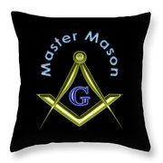 Master Mason In Black Throw Pillow