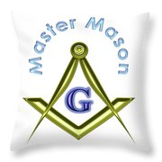 Master Mason In White Throw Pillow