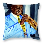 Master Of Jazz Throw Pillow