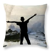 Master Of The Ocean Throw Pillow