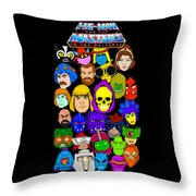 Masters Of The Universe Collage Throw Pillow