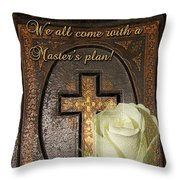 Master's Plan Throw Pillow