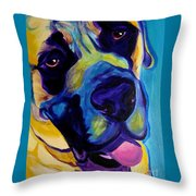 Mastiff - Lazy Sunday Throw Pillow