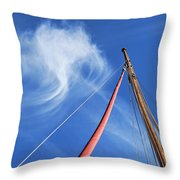 Masts And Clouds Throw Pillow