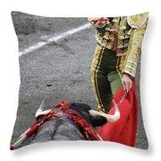 Matador El Juli Throw Pillow