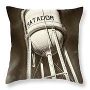 Matador Texas Water Tower Throw Pillow