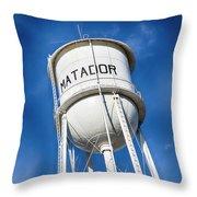 Matador Water Tower Throw Pillow