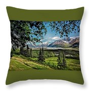 Matanuska Glacier Throw Pillow