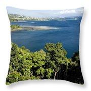 Matavai Bay, Site Of Anchorage Throw Pillow
