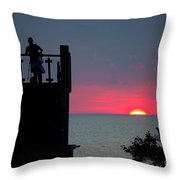 Matching July Lights Throw Pillow