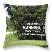 Matchless Manning Throw Pillow