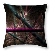 Matchstick Madness Throw Pillow
