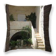 Matera, Italian Courtyard Throw Pillow