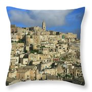 Matera Italy Throw Pillow
