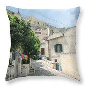 Matera's Colorful Laundry Throw Pillow