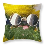 Materials And Eyeglasses Throw Pillow
