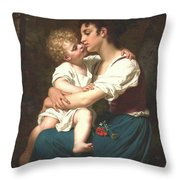Maternal Love Throw Pillow