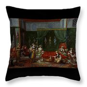 Private Chamber Of An Aristocratic Turkish Woman Throw Pillow