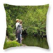 Mates Fishing Throw Pillow