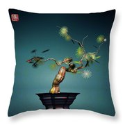 Math Bonsai 3 Throw Pillow