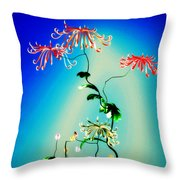 Math Chrysanthemum 1 Throw Pillow
