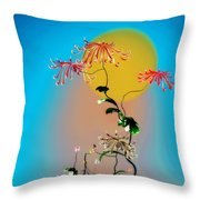 Math Chrysanthemum 2 Throw Pillow
