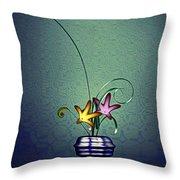 Math Flower 5 Throw Pillow