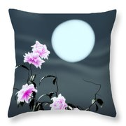 Math Peony Throw Pillow by GuoJun Pan