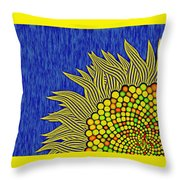 Math Sunflower1 Throw Pillow by GuoJun Pan