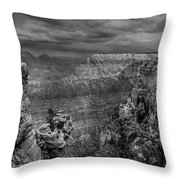 Mather Point B/w Throw Pillow