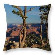 Mather Point South Rim Grand Canyon Throw Pillow