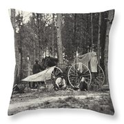 Mathew Brady Wagon Throw Pillow