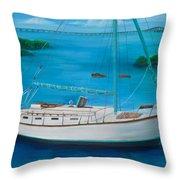 Matilda In The Florida Keys Throw Pillow