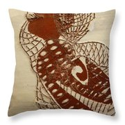 Matildas Smile - Tile Throw Pillow