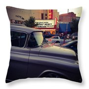 Matinees And Trucks Throw Pillow