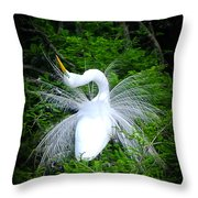 Mating Ritual Throw Pillow