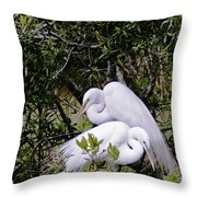 Mating Season Throw Pillow