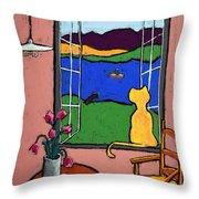 Matisse's Cat Throw Pillow