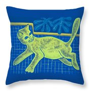 Matisse's Cat In Reverse Throw Pillow