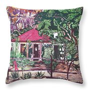 Matopo Rock Lodge Throw Pillow