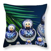 Matreshka Doll Throw Pillow
