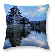 Matsumoto Castle 1182 Throw Pillow