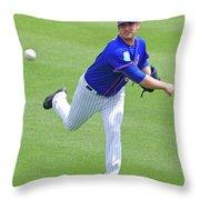 Matt Harvey New York Mets Throw Pillow