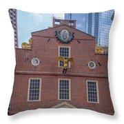 22- Matt V. Group At The Old State House In Boston, Massachusetts On August 26, 2016 Throw Pillow