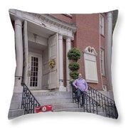 Matt V. Group At The Park Street Church In Boston, Massachusetts On August 26, 2016 Throw Pillow