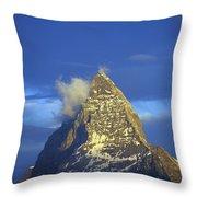 Matterhorn Mountain At Sunrise, Close Up Throw Pillow