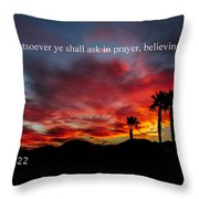 Matthew 21 Throw Pillow