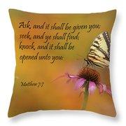 Matthew 7 7 Throw Pillow